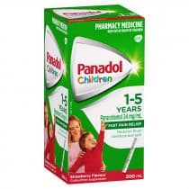 Childrens Panadol Suspension 1-5 Yrs Colour-Free Strawberry 200ml
