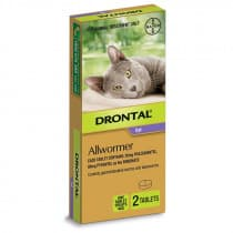 Drontal Cat Allwormer 4kg 2 Tablets