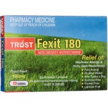 Trust Fexit 180mg 10 Tablets