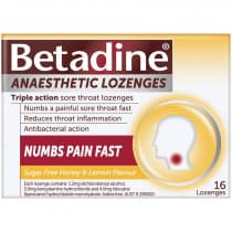 Betadine Anaesthetic Honey and Lemon 16 Lozenges