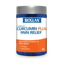Bioglan Clinical Curcumin Plus Pain Relief 50 Tablets