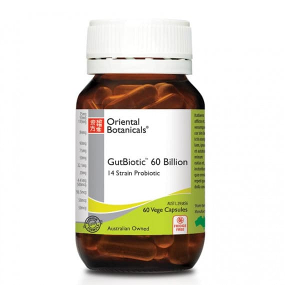Oriental Botanicals Gutbiotic 60 Billion 60 Capsules