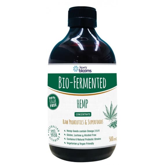 Henry Blooms Bio-Fermented Hemp Probiotic 500ml