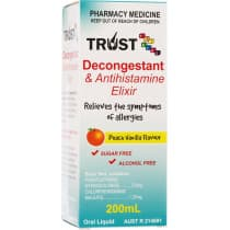 Trust For Kids Decongestant and Antihistamine Elixir 200ml