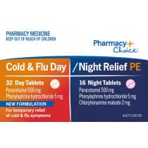 Pharmacy Choice Cold & Flu Day & Night PE 48 Tablets