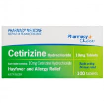Pharmacy Choice Cetirizine Hayfever & Allergy Relief 100 Tablets
