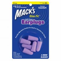 Macks Slim Fit Soft Foam Ear Plugs 3 Pair