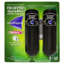 Nicorette Nicotine QuickMist Cool Berry Spray 300 Sprays