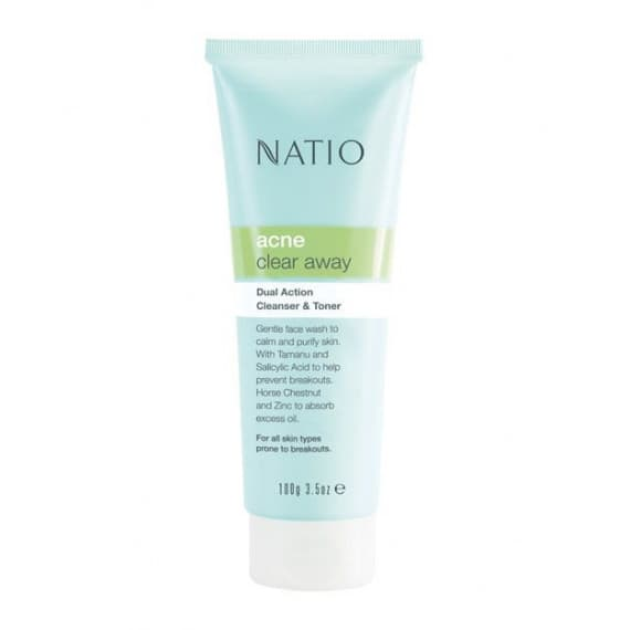 Natio Dual Action Cleanser & Toner 100g