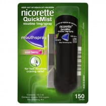Nicorette Nicotine QuickMist Cool Berry Spray 150 Sprays
