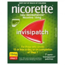 Nicorette Nicotine Patch 16hr Invisipatch Step 2 15mg 7 Patches