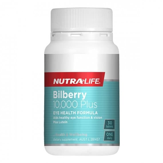 Nutra Life Bilberry 10000 Plus 30 Tablets