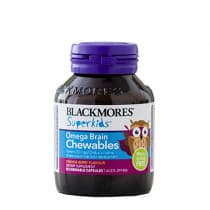 Blackmores Superkids Omega Brain Chewables Orange Berry 50 Capsules