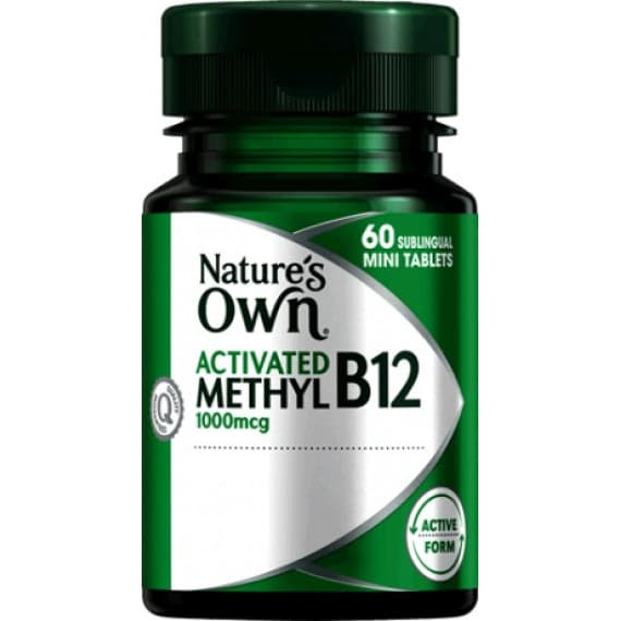 Natures Own Activated Methyl B12 60 Tablets
