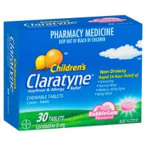 Claratyne Childrens Bubblegum Chewables 30 Tablets