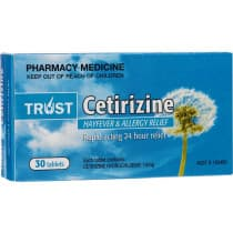 Trust Cetirizine 10mg 30 Tablets