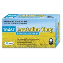Trust Loratadine 10mg 50 Tablets