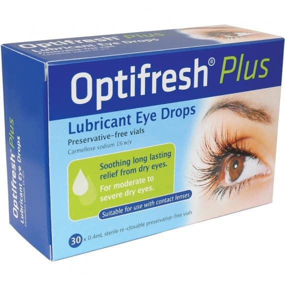 Optifresh Plus Lubricant Eye Drops 30 x 0.4ml