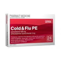 Pharmacy Action Cold & Flu PE 24 Tablets