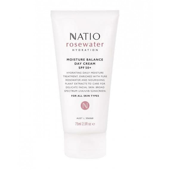 Natio Rosewater Hydration Moisture Balance Day Cream SPF50+ 75ml