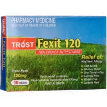 Trust Fexit 120mg 30 Tablets