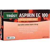 Trust Aspirin EC 100mg 84 Tablets
