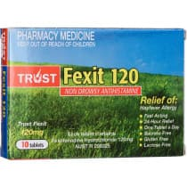 Trust Fexit 120mg 10 Tablets