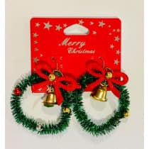 Christmas Earrings Wreath (Lenan)