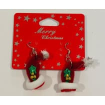Christmas Earrings Santa Hat (Lenan)