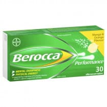 Berocca Performance Mango & Orange 30 Effervescent Tablets