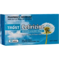 Trust Cetirizine 10mg 50 Tablets