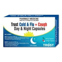 Trust Cold & Flu + Cough Day & Night 48 Capsules