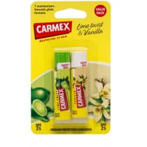 Carmex Lip Balm Lime Twist and Vanilla SPF25 2 Pack
