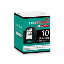 LifeSmart Two Plus Ketone Test Strips (For LS-946) 10 Strips