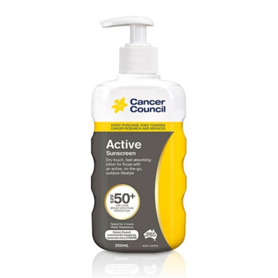 Cancer Council Active Sunscreen Pump SPF50+ 200ml