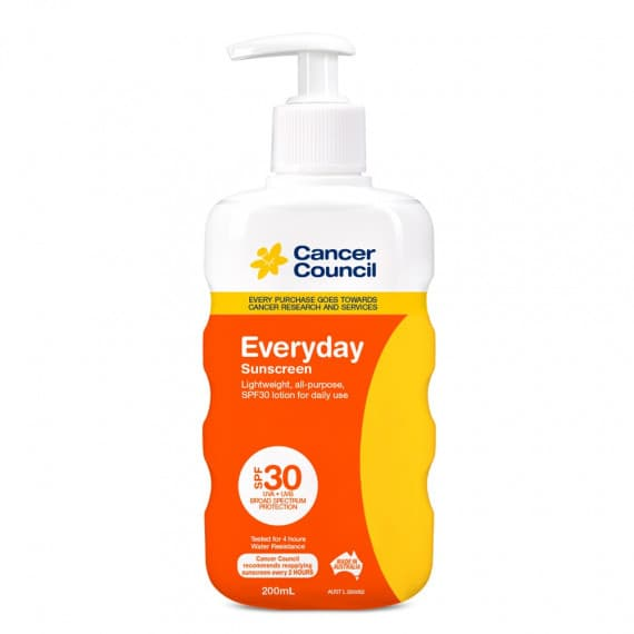 Cancer Council Everyday Sunscreen Pump SPF 30+ 200ml