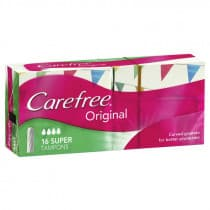 Carefree Original Super Tampons 16 Pack