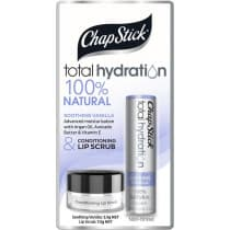 Chapstick Total Hydration Vanilla Lip Balm and Scrub 6