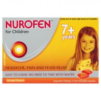 Nurofen For Children 7+ Orange 12 Chewable Capsules