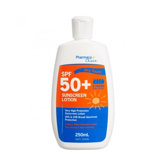 Pharmacy Choice Dry Touch Sunscreen SPF 50+ 250ml