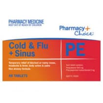 Pharmacy Choice Cold & Flu PE 48 Tablets