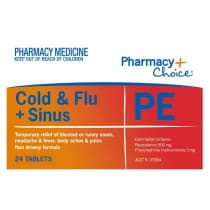 Pharmacy Choice Cold & Flu PE 24 Tablets