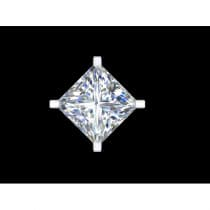 Desire SS Cubic Zerconia Earrings Square Medium-Large