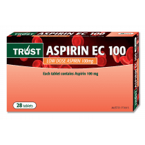 Trust Aspirin EC 100mg 28 Tablets