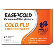 Ease A Cold Cold Flu + Decongestant 20 Tablets