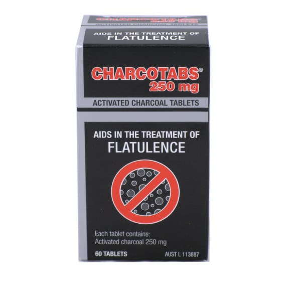 Charcotabs Activated Charcoal 250mg 60 Tablets