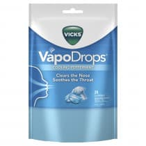 Vicks Vapodrop Cooling Peppermint Lozenges 24 Pack