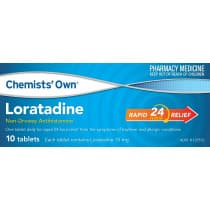 Chemists Own Loratadine 10mg 10 Tablets