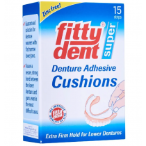 Fittydent Super Denture Adhesive Cushion Strips 15 Pack