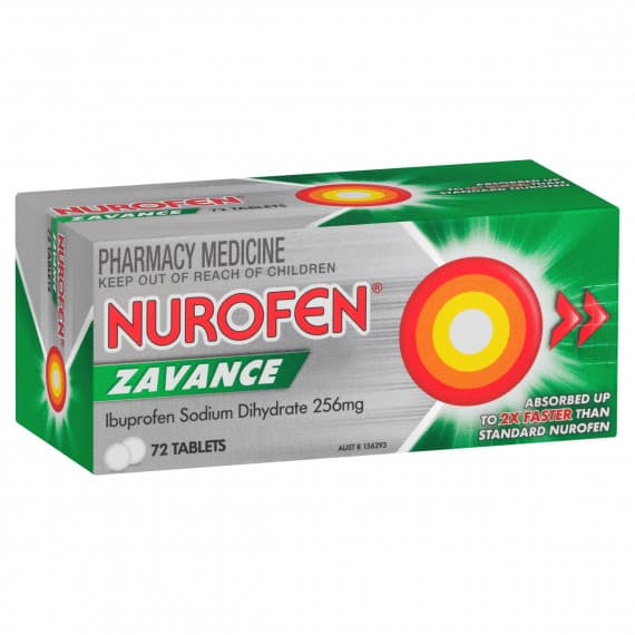 Nurofen Zavance 72 Tablets